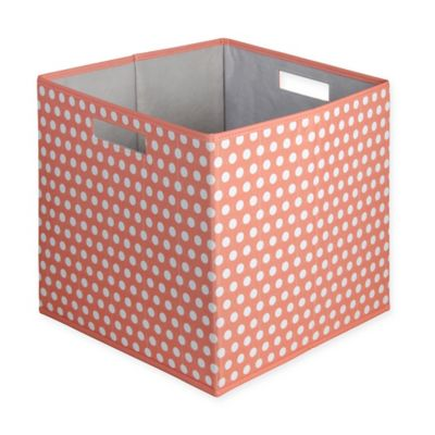 B+in® Dotted Fabric Full Storage Bin In Coral