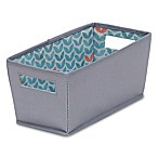 b+in® Silver Sconce Fabric Quarter Storage Bin