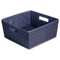 b+in® Blossom Fabric Half Storage Bin in Blue