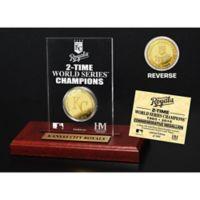 MLB Kansas City Royals World Series Champions Gold Coin Etched Acrylic