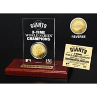 MLB San Francisco Giants World Series Champions Gold Coin Etched Acrylic