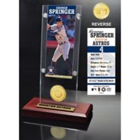 MLB George Springer Ticket & Bronze Coin Acrylic Desk Top