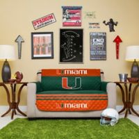 University of Miami Loveseat Cover