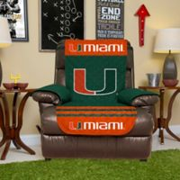University of Miami Recliner Cover