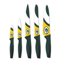 NFL Green Bay Packers 5-Piece Stainless Steel Knife Set
