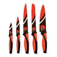 NFL Cleveland Browns 5-Piece Stainless Steel Knife Set