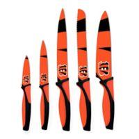 NFL Cincinnati Bengals 5-Piece Stainless Steel Knife Set