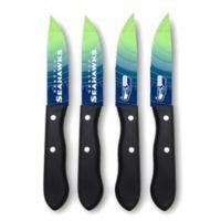 NFL® Seattle Seahawks 4-Piece Stainless Steel Steak Knife Set