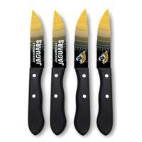 NFL® Jacksonville Jaguars 4-Piece Stainless Steel Steak Knife Set