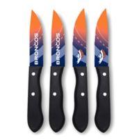 NFL® Denver Broncos 4-Piece Stainless Steel Steak Knife Set