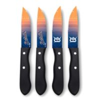 MLB® Detroit Tigers 4-Piece Stainless Steel Steak Knife Set