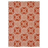 Panama Jack Maui 7-Foot 10-Inch x 9-Foot 10-Inch Indoor/Outdoor Rug in Terracotta