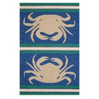 Panama Jack Crab Shack 1-Foot 11-Inch x 3-Foot Indoor/Outdoor Rug in Taupe