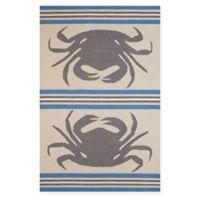 Panama Jack Crab Shack 1-Foot 11-Inch x 3-Foot Indoor/Outdoor Rug in Grey