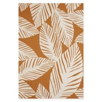 Panama Jack Palm Coast 1-Foot 11-Inch x 3-Foot Indoor/Outdoor Accent Rug in Spice