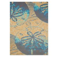 Panama Jack Sand Dollar 1-Foot 10-Inch x 3-Foot Accent Rug in Peach