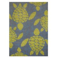 Panama Jack Sea Turtles 1-Foot 10-Inch x 3-Foot Accent Rug in Lime