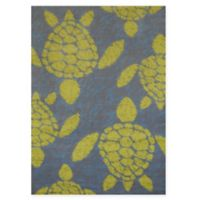Panama Jack Sea Turtles 2-Foot 7-Inch x 3-Foot 11-Inch Accent Rug in Lime
