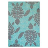 Panama Jack Sea Turtles 5-Foot 3-Inch x 7-Foot 2-Inch Area Rug in Blue