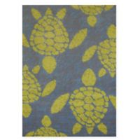 Panama Jack Sea Turtles 5-Foot 3-Inch x 7-Foot 2-Inch Area Rug in Lime