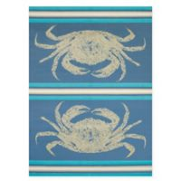 Panama Jack Stone Crab 5-Foot 3-Inch x 7-Foot 2-Inch Area Rug in Blue