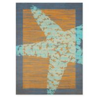 Panama Jack Starfish 1-Foot 10-Inch x 3-Foot Accent Rug in Peach