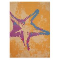 Panama Jack Sea Life 5-Foot 3-Inch x 7-Foot 2-Inch Area Rug in Peach