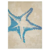 Panama Jack Sea Life 5-Foot 3-Inch x 7-Foot 2-Inch Area Rug in Natural