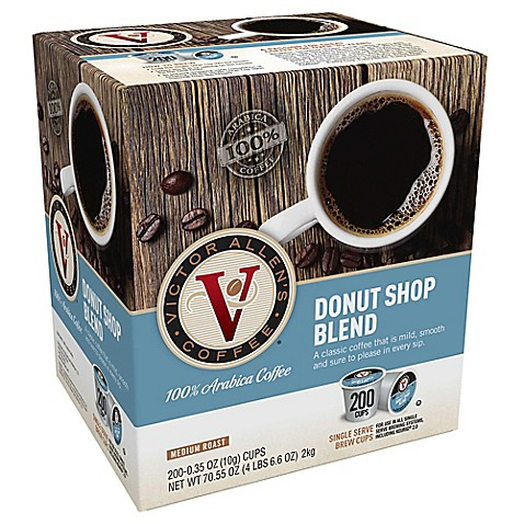 200 Count Victor Allen 174 Donut Shop Blend Coffee Pods For