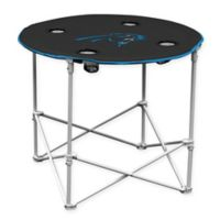 NFL Carolina Panthers Round Collapsible Table