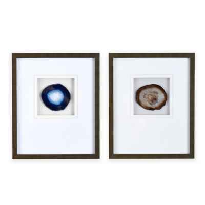 Madison Park Agate Stone Framed Wall Art