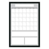 Mezzanotte Dry-Erase Big Calendar in Grey Houndstooth