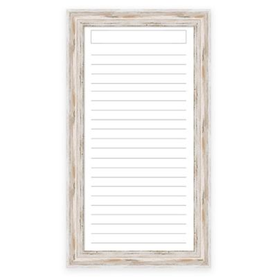 alexandria dry erase list with whitewash frame - Whitewashed Picture Frames