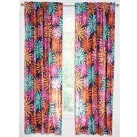 Crayola® Dreaming of Daisies 84-Inch Rod Pocket Window Curtain Panel in Navy/Pink