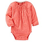 Oshkosh B'gosh Size 6M Smocked Neon Bodysuit in Orange
