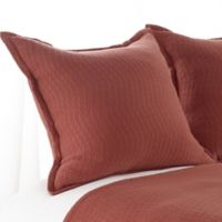Aura Bali Matelasse European Pillow Sham in Marsala
