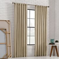 KAS Room 84-Inch Bespoke Rod Pocket Back-Tab Panel in Jute