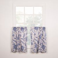Artissimo Tailored 24-Inch Window Curtain Tier Pair in Blue