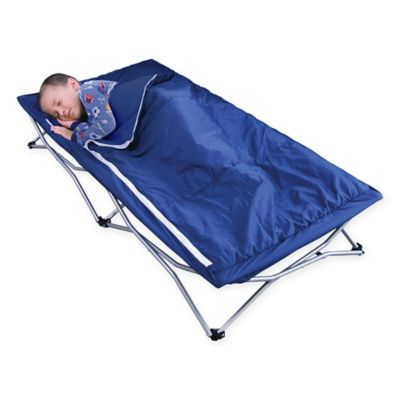 Regalo 47 Inch X 26 Deluxe Portable Folding Toddler Cot In Navy