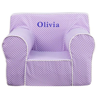 Flash Furniture Large Kids Chair in Lavender/White