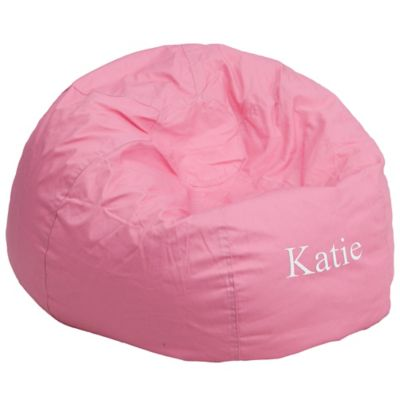 Personalized Furniture Flash Kids Large Bean Bag Chair In Pink