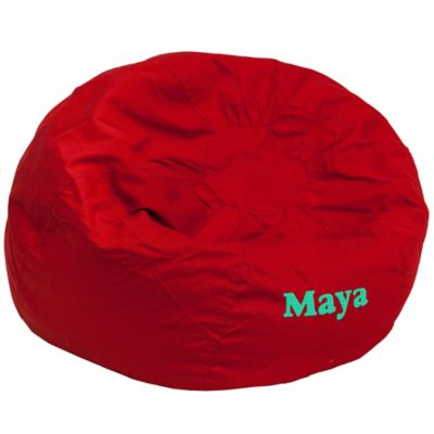Flash Furniture Personalized Kids Large Bean Bag Chair In Red