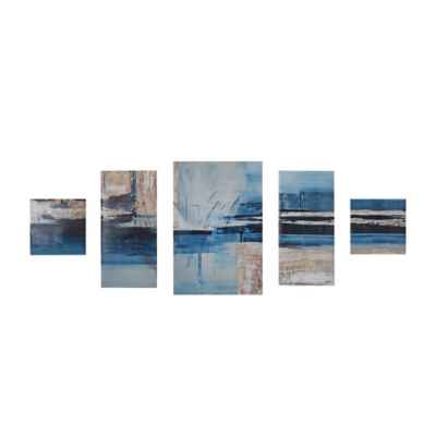 Madison Park Overseas Printed Canvas 5-Piece Wall Art