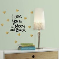 I Love You To The Moon And Back Quote Peel and Stick Wall Decals