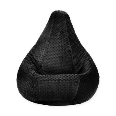 Adult Minky Dot Bean Bag Chair In Black
