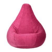 Adult Minky Dot Bean Bag Chair in Fuchsia
