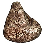 Adult Size Velvet Bean Bag Chair in Leopard Print