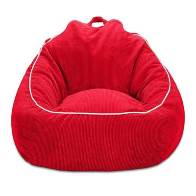 Corduroy Bean Bag Chair In Red