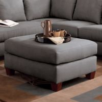 Klaussner® Drew Ottoman in Charcoal