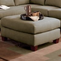 Klaussner® Drew Ottoman in Thyme